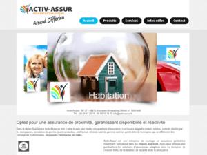 Hébergement Site Internet vitrine Activ Assur à 68620 Bischwiller Les Thann