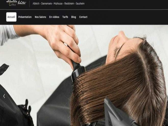 Création et mise en ligne d'un nouveau site Internet qui décoiffe pour les 5 salons de mon client Sébastien Walter Coiffeur situés à 68 #Altkirch #Dannemarie #Mulhouse #Riedisheim et #Sausheim