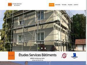 Création et mise en ligne d'un nouveau site Internet pour mon client E-S-B Études Services Bâtiments situé à Horbourg-Wihr près de Colmar.