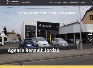 Nouveau site Internet vitrine pour mon client l'agence Renault Jordao située à Rixheim près de Mulhouse, dans le Haut-Rhin (68)