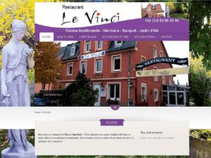Création site Internet vitrine pour le restaurant LE VINCI à 68390 Sausheim - Cataclaude