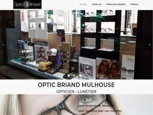 Création et mise en ligne d'un nouveau site Internet vitrine pour mon client Optic Briand à 68200 Mulhouse. Lunettes de vue, solaire, correctrices,.. vous trouverez tous les modèles les plus tendances dans ce magasin de lunettes près du centre ville de Mulhouse