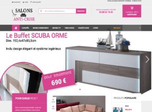 Un nouveau site marchand ou e-commerce pour la vente en ligne de salons, meubles, literies, chaises, tables à prix Anti Crise à Wittenheim