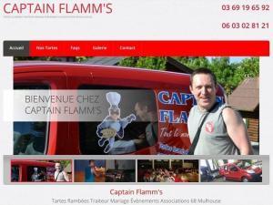 Création d'un nouveau site Internet vitrine pour mon client Captain Flamms, traiteur Tartes flambées pour des évènements et Associations situé à Wittenheim près de 68 Mulhouse.