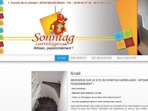 Hébergement site Internet vitrine Sonntag Carrelage à 68 Michelbach
