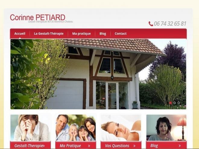 Création et mise en ligne d'un nouveau site Internet vitrine pour ma cliente Mme Corinne PETIARD - Gestalt-Thérapeute installée à 90130 Montreux-Château, entre Belfort (90 - Territoire de Belfort) et Dannemarie (Département - 68)