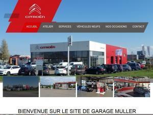 Création site Internet pour le Garage Citroën Muller à 68520 Burnhaupt Le Bas