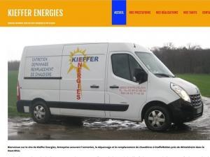 Création site Internet Kieffer Energies à 68850 Staffelfelden