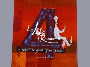 Création d'un nouveau site Internet vitrine pour mon client Restaurant Le 4 et ce dès l'ouverture en juillet 2009 de ce haut lieu de la gastronomie et véritable tables plaisirs bien connu à Mulhouse.