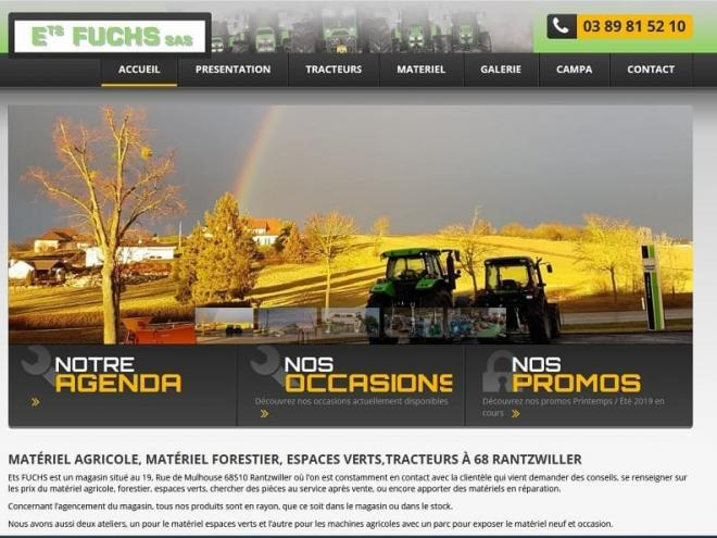 Création site Internet pour Ets Fuchs 68510 Rantzwiller