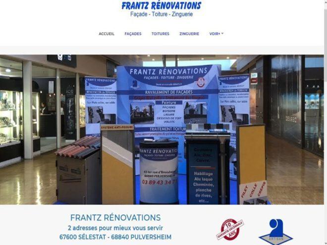 Création et mise en ligne d'un nouveau site Internet pour mon client Frantz Rénovation pour ses deux agences situées pour l'une à 68 Pulversheim et l'autre à 67 Sélestat.