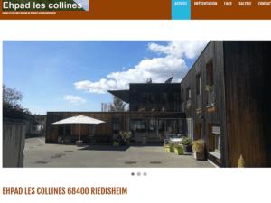 Nouveau site Internet vitrine pour mon client l'EHPAD Maison de Retraite « Les Collines » situé sur les hauteurs de 68 Riedisheim,