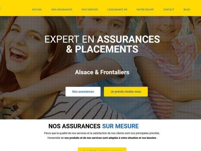 Création et référencement nouveau site Web pour cabinet d'assurances Jordan Raoul 68300 Saint Louis Haut-Rhin, Alsace