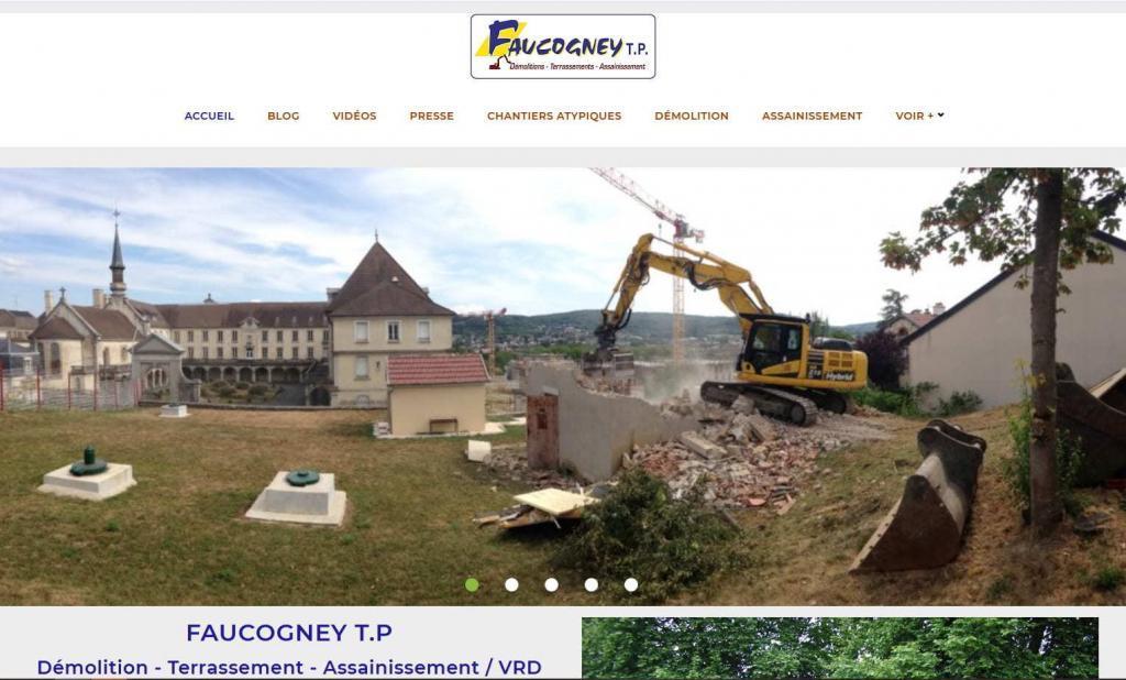 Création et refonte nouveau site pro pour TP Faucogney 70 Cubry Les Favernaey entre Lure et Vesoul Haute-Saone
