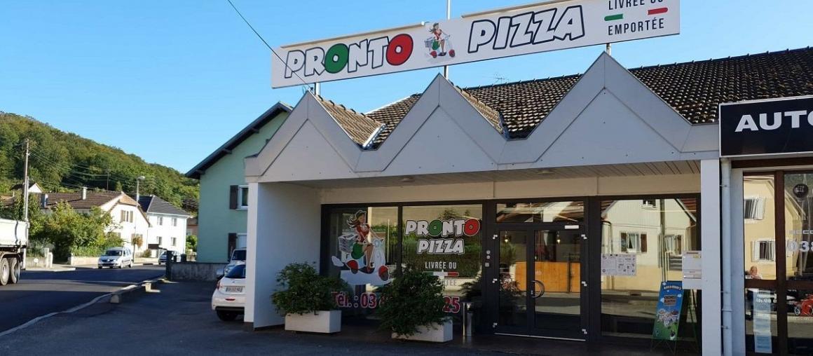 Création nouveau site Internet vitrine pour Pronto Pizza (68) Illfurth près d'Altkirch