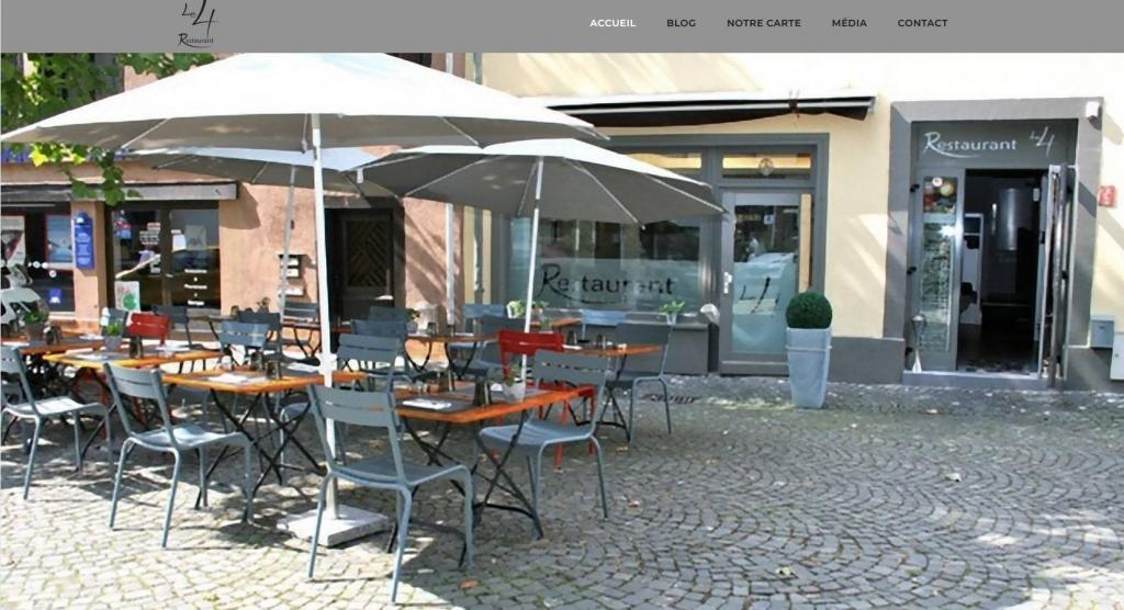 Refonte site Internet vitrine Restaurant Le 4 68 Mulhouse