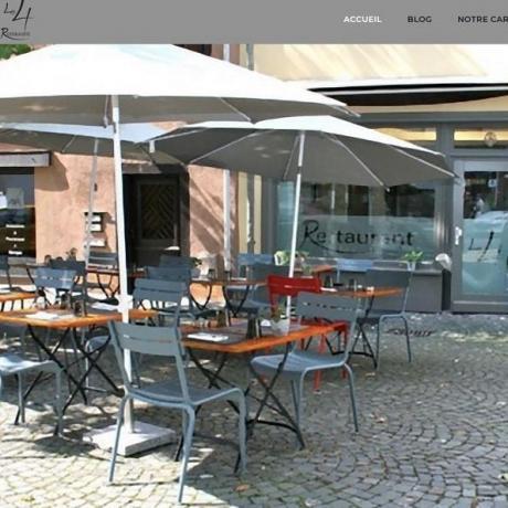 Création nouveau site Internet vitrine Restaurant Le 4 68 Mulhouse