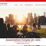 Création site Internet pour l'Association Croyez En Voix 06800 Cagnes Sur Mer