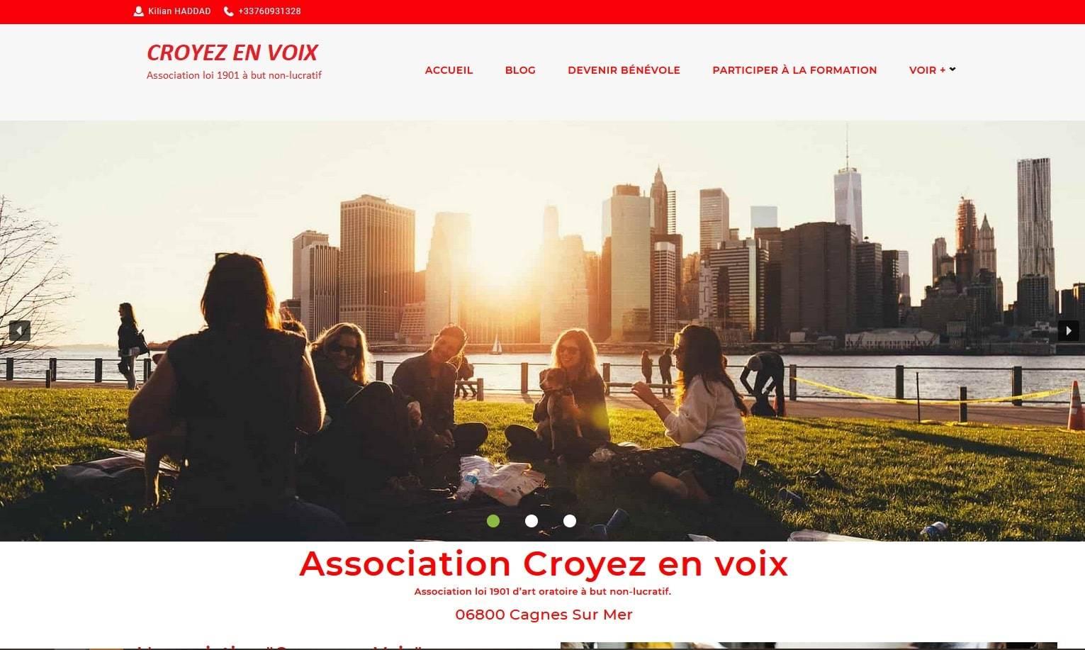 Création site Internet pour l'Association bénévole Croyez En Voix 06 Cagnes sur Mer est une association, loi 1901 à but non lucratif, apolitique, non confessionnelle et indépendante créée en novembre 2019. Sa vocation est de favoriser la réussite scolaire en apportant aide et soutien.