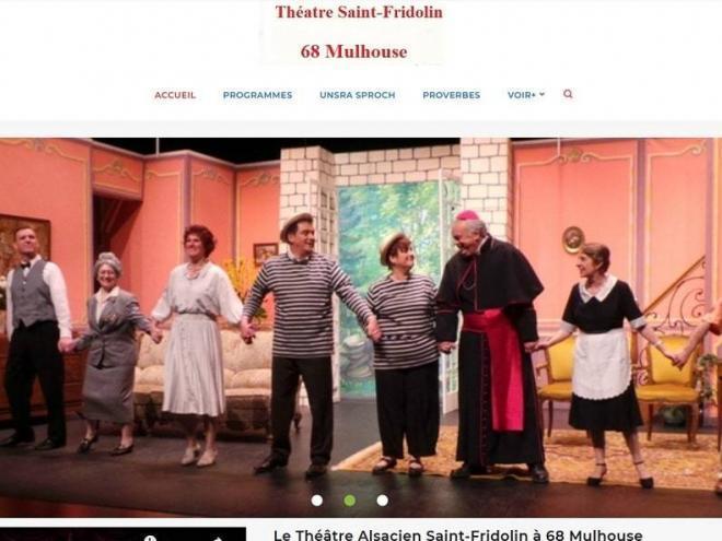 Site Internet vitrine Theatre Fridolin 68 Mulhouse Wittelsheim Dannemarie