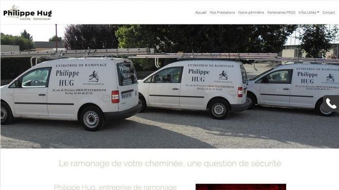 Nouveau site Internet Ramonage Hug Philippe 68 Pulversheim
