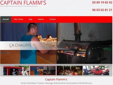 Création site Internet 2015 Captain Flamm's 68 Wittenheim Traiteur tartes flambées