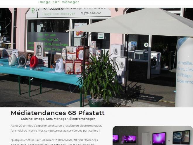 Nouveau site Internet vitrine MEDIATENDANCES 68 PFASTATT