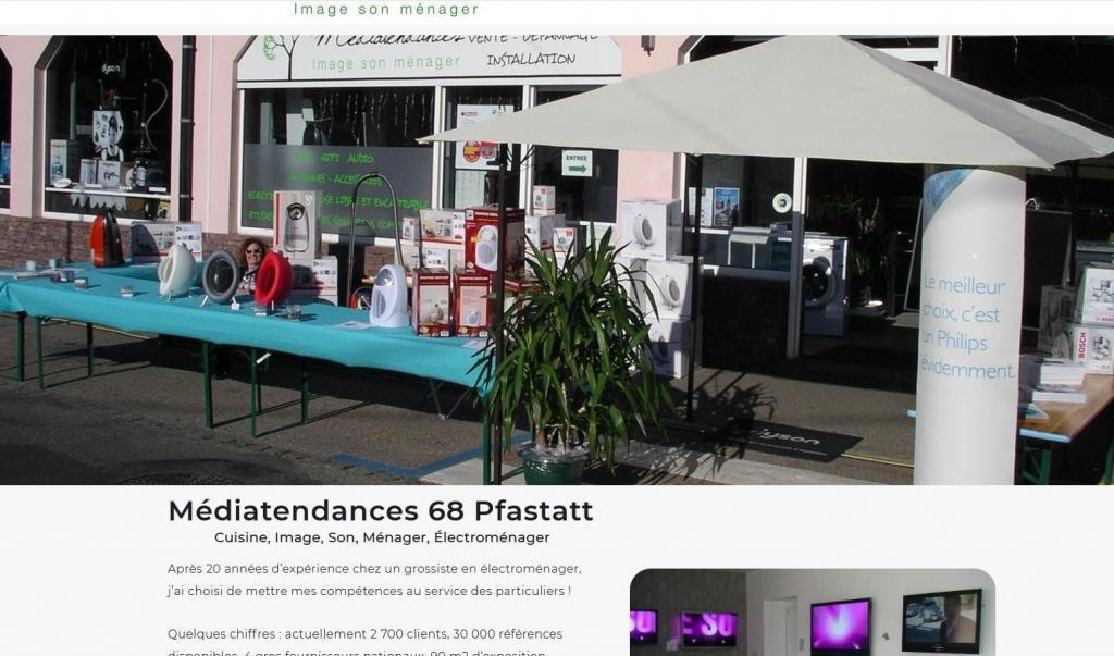 Création site Internet pour Magasin médiatendances à 68 (68120) Pfastatt