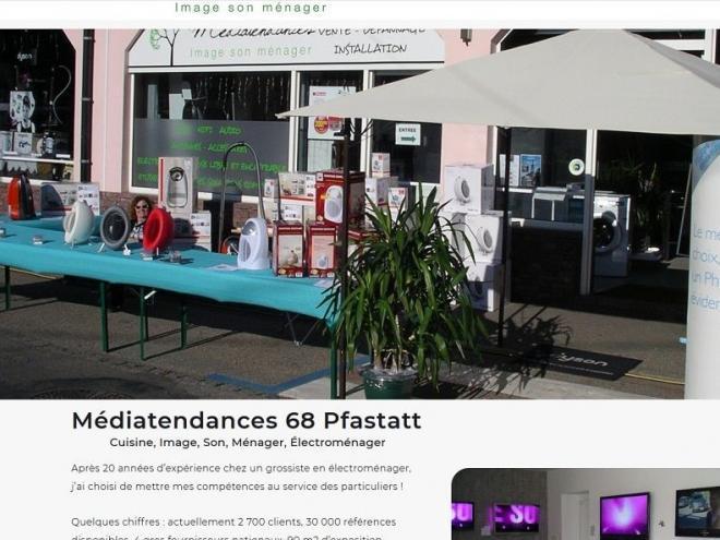 Création nouveau site Internet pour Médiatendances 68 Pfastatt