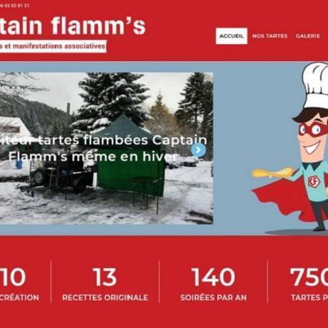 Création et refonde du site Internet de Captain Flamm's 68 Wittenheim Haut-Rhin Alsace