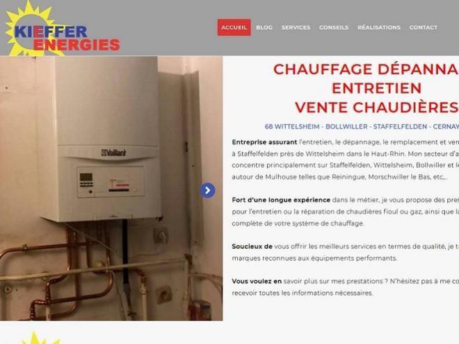 KIEFFER ENERGIE CHAUFFAGE DEPANNAGE VENTE INSTALLATION ENTRETIEN CHAUDIERE 68 STAFFELFELDEN PRES WITTELSHEIM (68)