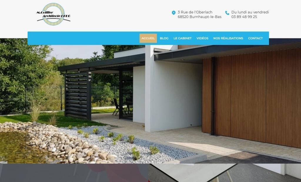 Creation nouveau site Internet pour Mickael Coiffier, Architecte DPLG 68 Burnhaupt Le Bas (Entre Belfort et Mulhouse ou Entre Thann Cernay et Altkirch