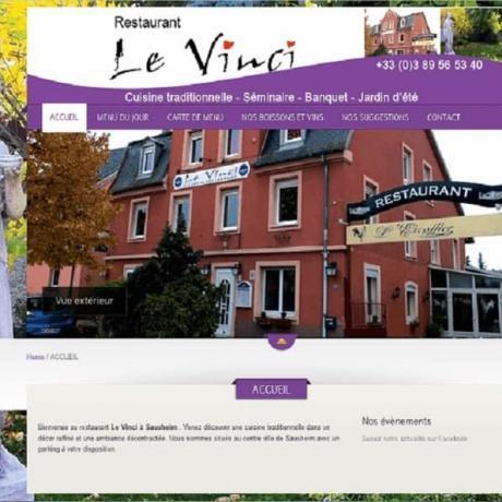 Restaurant Vinci Nouveau site Internet à 68 Sausheim
