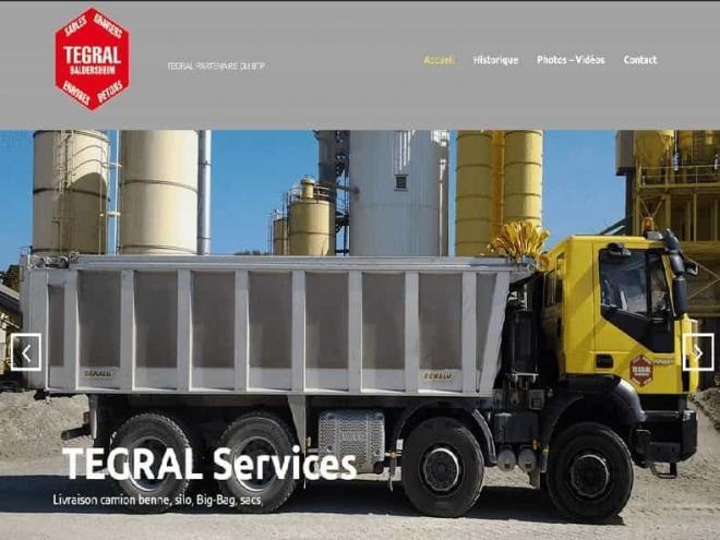 Nouveau site Web pour Tegral situé à 68 Baldersheim au bord de l'A35 entre Colmar et Mulhouse