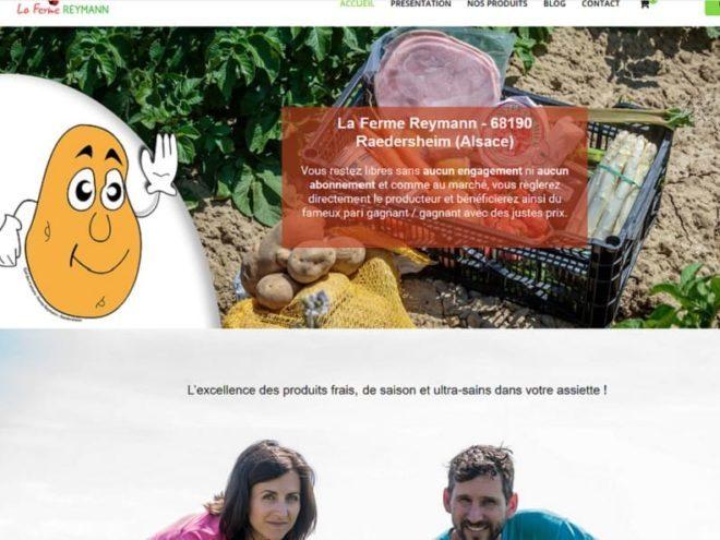 18/04/2020 Création de site Internet pour un producteur local la FERME REYMANN RAEDERSHEIM (68) avec possibilité de réservation en ligne des produits du terroir en circuit court. (Alsace)