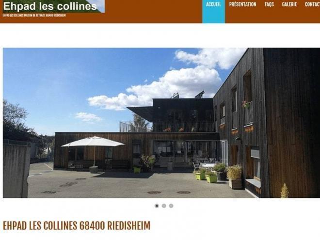 Nouvelle creation site Internet pour l'Ehpad Les Ccollines à (68) Riedisheim