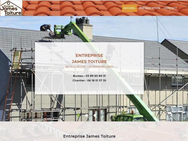 Création d'un nouveau site Internet vitrine pour Entreprise James Toiture