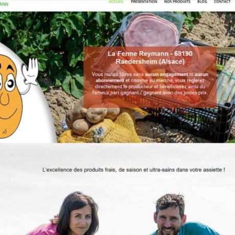 FERME REYMANN RAEDERSHEIM 68 À la Ferme Reymann de (68) Raedersheim, la semaine est organisée pour nous permettre de produire nos propres légumes (pommes de terre, rhubarbe etc,..) et en outre, pouvoir gérer le partenariat mis en place avec d'autres producteurs locaux.
