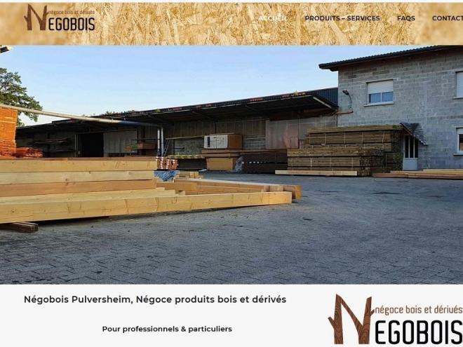Nouveau site Internet vitrine pour la société Negobois à 68 Pulversheim entre Ensisheim et Wittelsheim, près de Thann, Cernay, Wittenheim 68 Alsace