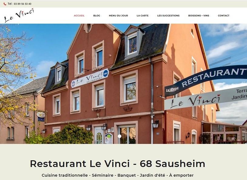 """23 10 2020 - Mise en ligne du nouveau site Internet vitrine pour """"Le Vinci"""" Restaurant situé 71 grand-rue à 68390 #SAUSHEIM près de #Mulhouse"""