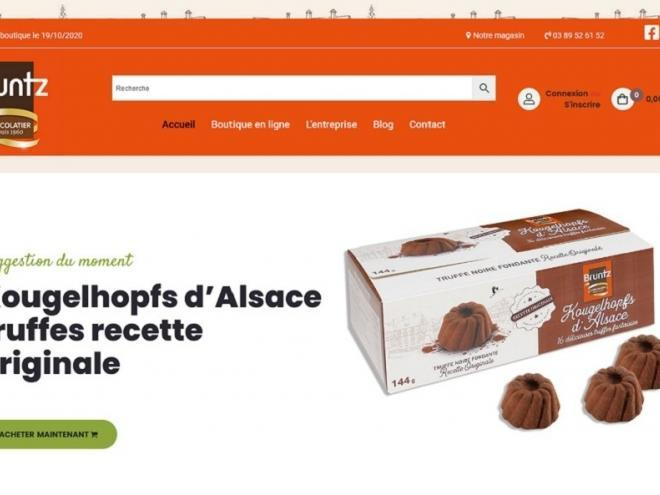 19/10/2020 : Mise en ligne du nouveau site de ventes en ligne pour notre très connu et sympathique fabricant chocolatier Chocolaterie Bruntz situé au 3 rue de l'Industrie à 68260 KINGERSHEIM (Alsace)