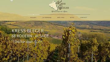 Création et mise en ligne du nouveau site Internet Domaine Kress-Bleger