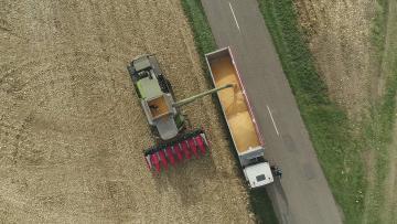 Vidéo aérienne pour les moissons de Maïs 2020 (Alsace)