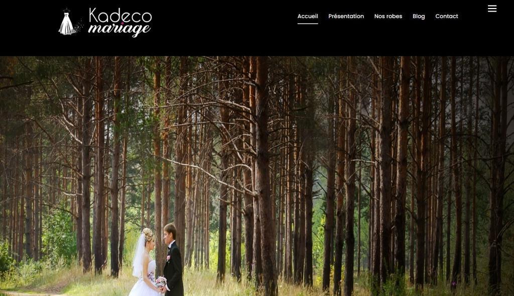 Création et mise en ligne du nouveau site Internet pour Kadeco Mariage 25400 Audincourt entre 90 Belfort et 25 Montbéliard