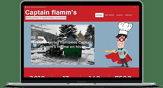 Captain Flamms © Création site Web Cataclaude