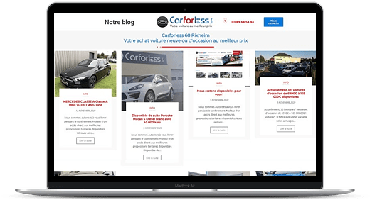 Carforless © Création site Web Cataclaude