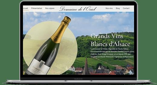 Domaine de l Oriel © Création site Web Cataclaude