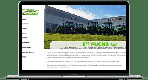 Ets Fuchs © Création site Web Cataclaude