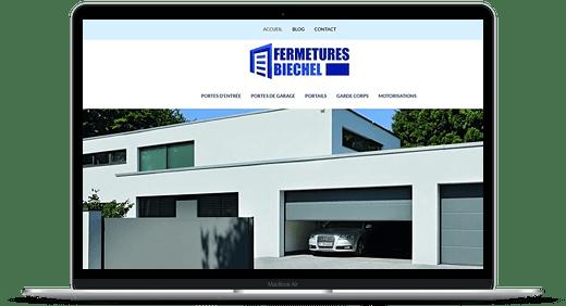 Fermetures Biechel © Création site Web Cataclaude