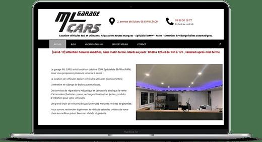 Nouveau site Internet vitrine pour le garage ML Cars à 68110 Illzach près de Mulhouse